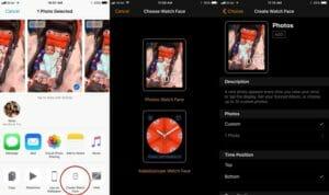 iOS 11 - Set Photos as Apple Watch Face