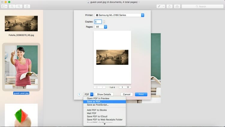 Preview Print Images As PDF