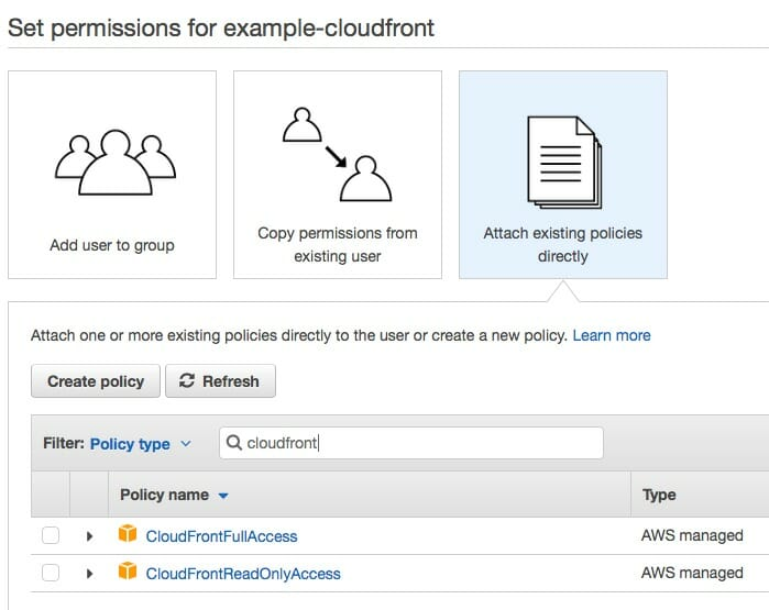 IAM User Access For AWS CloudFront