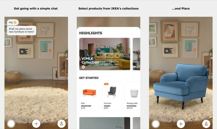 Ikea Place Augmented Reality App
