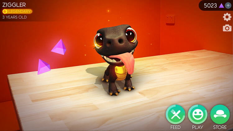 AR Dragon iOS Game Screenshot For iPhone X