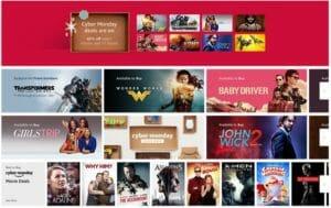 Amazon Cyber Monday Movie Sale