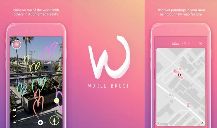 World Brush AR Games for iOS Devices