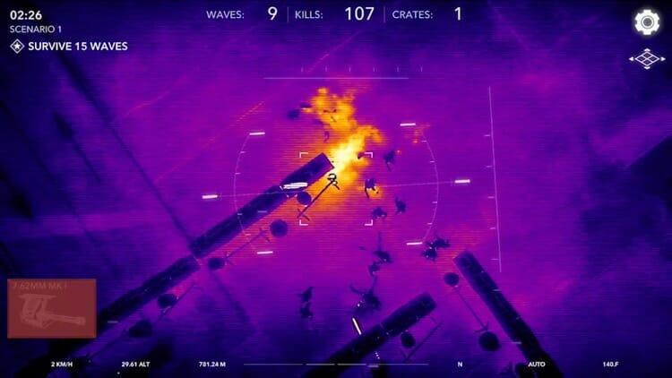Zombie Gunship Revenant AR Game Screenshot