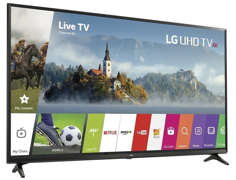 LG UJ6300 Smart WebOS Enabled best 4k TV's under $1000
