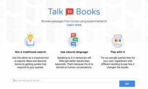 Google Talk to Books AI Service