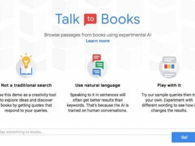 Google Talk to Books AI Service
