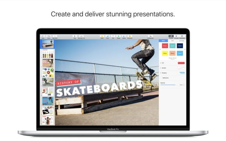 Keynote App on Mac App Store