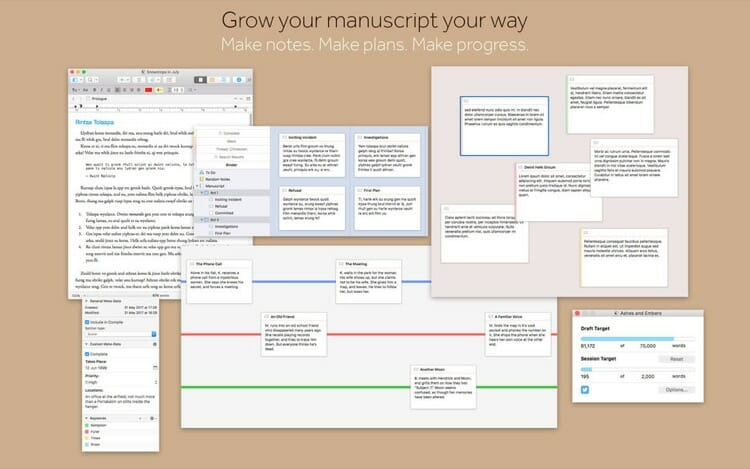 Scrivener 3 Mac App Screenshot