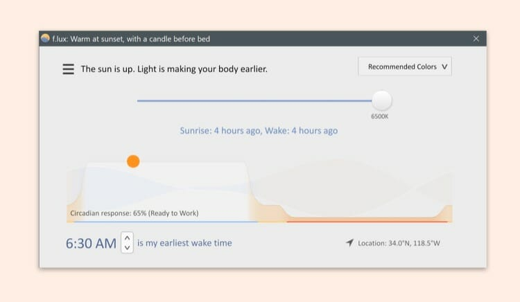 flux mac app for better screen color management