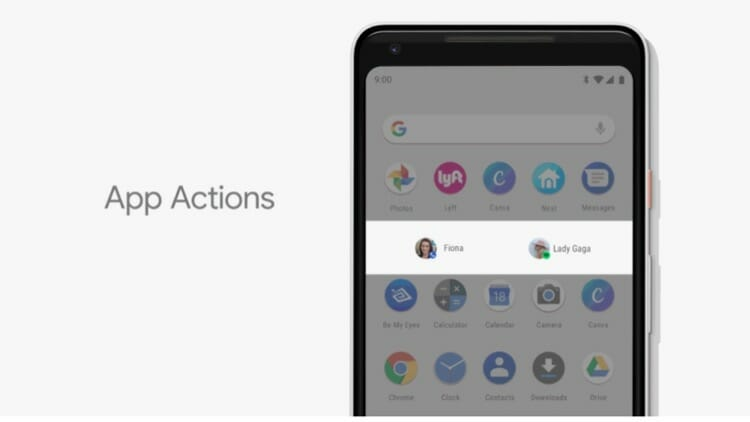 App Actions in Android P OS Update