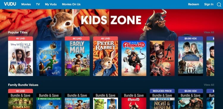 Kids Movies Sale On Vudu For This Summer