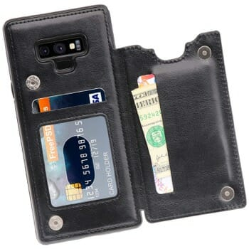 MMHUO Leather Wallet Case For Galaxy Note 9