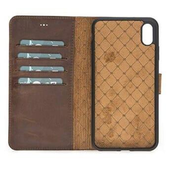 GazelleLeather Wallet Folio Case for iPhone XS Max