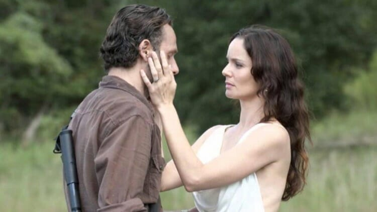 Rick With Lori in The Walking Dead