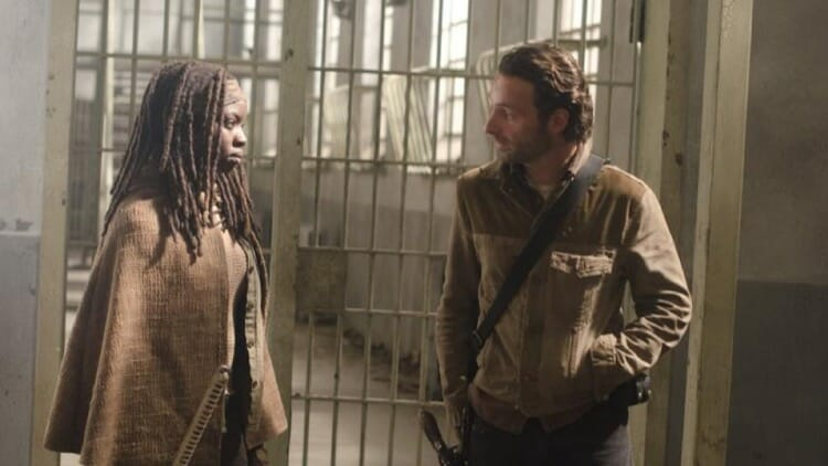 Rick and Michonne in The Walking Dead