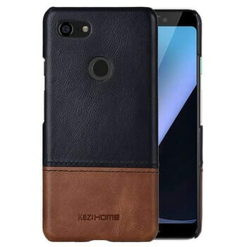 KAZiHOME Black Leather Case for Pixel 3