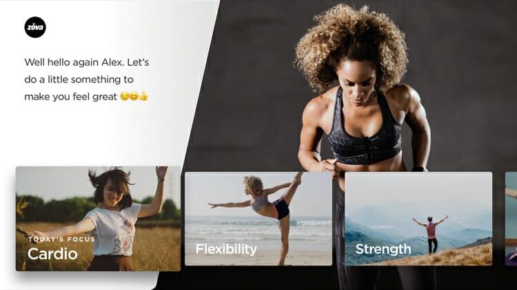 Zova Fitness App On Apple TV