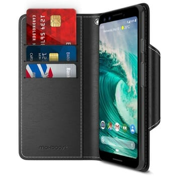 Maxboost Pixel 3 Leather Wallet Case