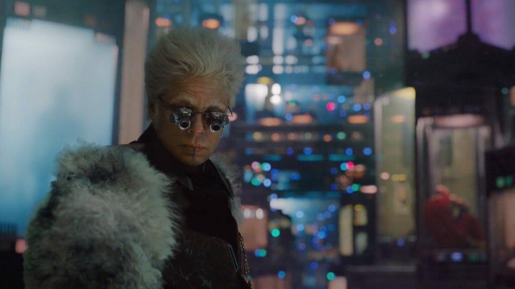 The Collector From Guardians of the Galaxy Movie