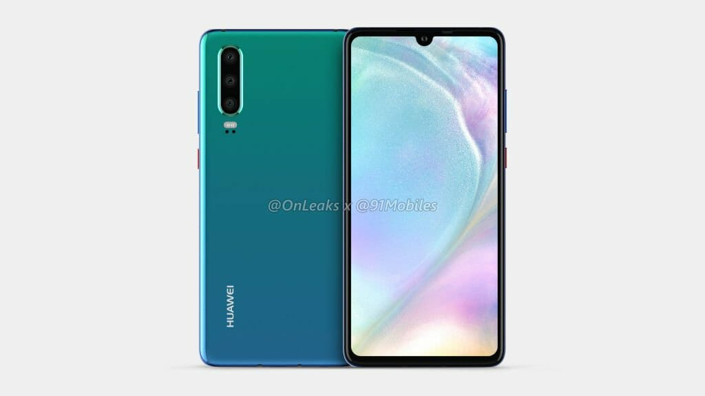 Huawei P30 and P30 Pro Renders