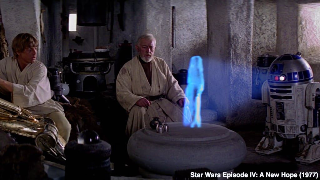 Star Wars Episode IV A New Hope Movie Predicted Holograms