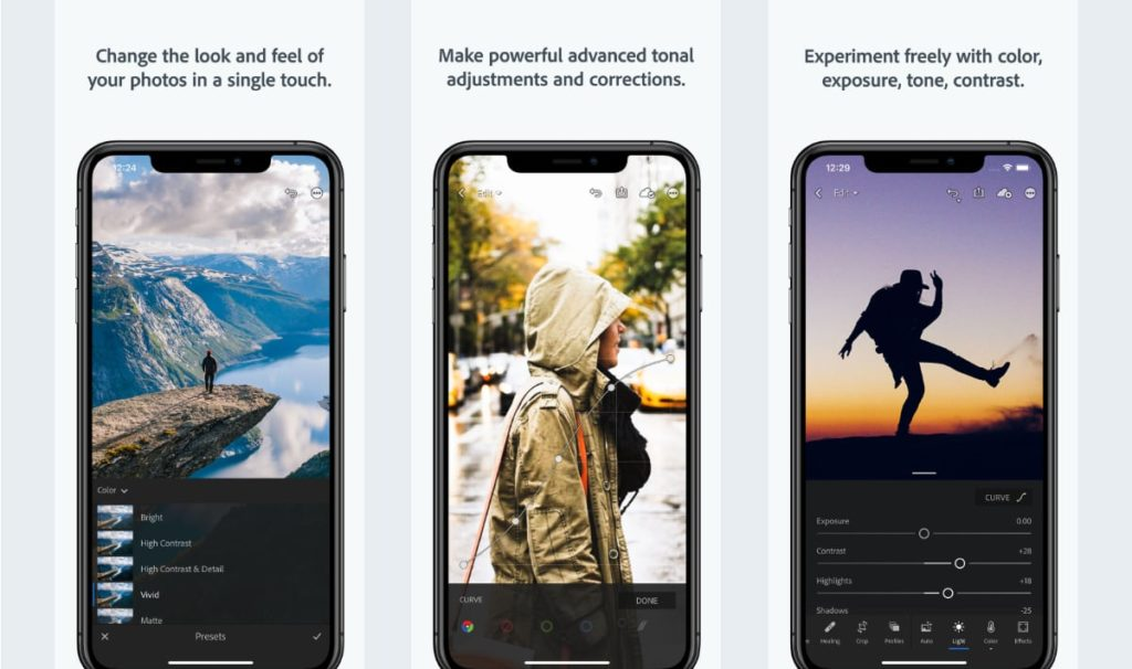 Best Photo Editor Apps for iOS - Adobe Lightroom CC App Screenshot