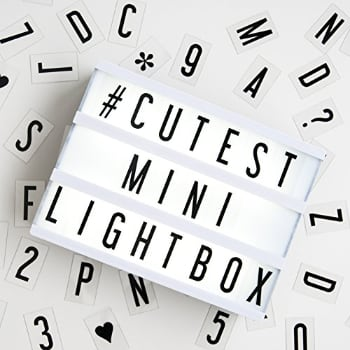My Cinema Lightbox For Your Valentine