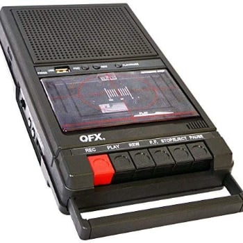 Shoebox Tape Recorder and USB Player