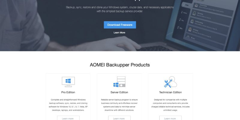 AOMEI Backupper Windows Backup Solution