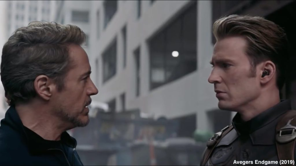 Captain America and Iron Man In Avengers Endgame 2019
