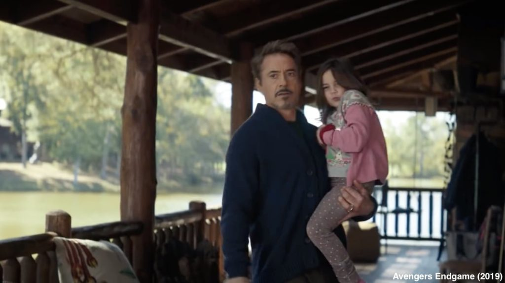 Tony Stark With His Daughter