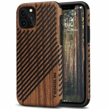 TENDLIN Wood & Leather Case For iPhone 11 Pro