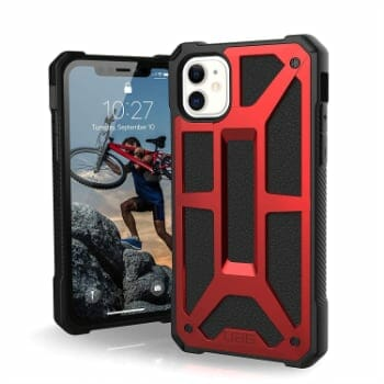 UAG Crimson Red Rugged Case for iPhone 11