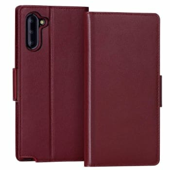FYY Cowhide Leather Case For Galaxy Note 10