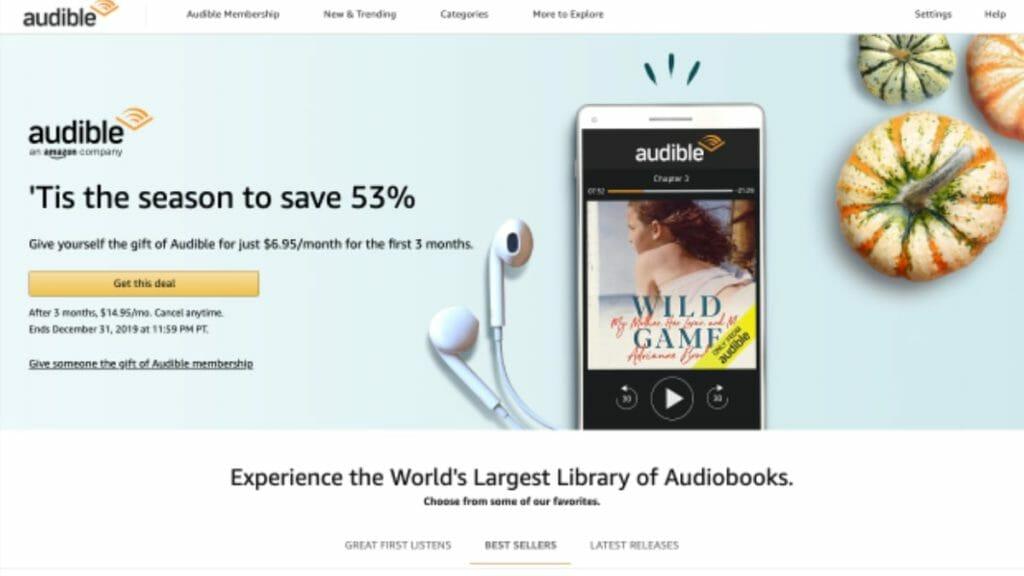 Audible 50 Percent Discount For Membership Plans