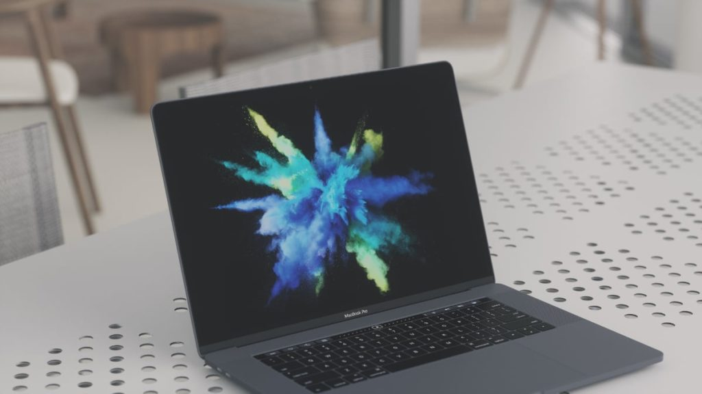 MacBook Pro sitting on a table