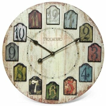 Infinity Weathered Plank Wooden Wall Clock