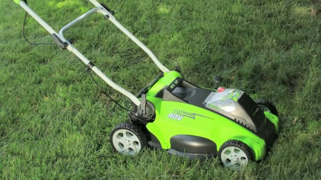 Cordless Lawn Mower For Easy Cutting Of The Grass