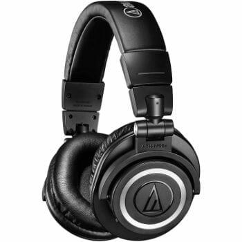 audio technica ath m50 over ear headphones