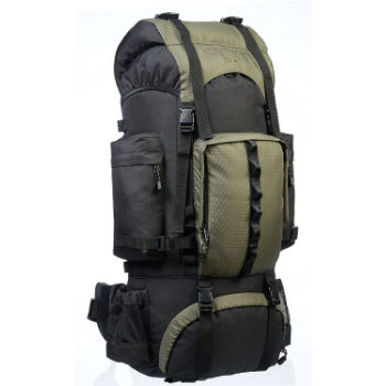 AmazonBasics Rainfly Internal Frame Camping Backpack