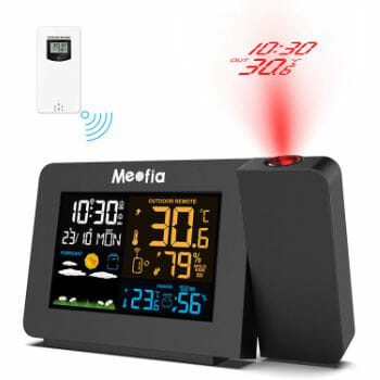 Meofia Projection Alarm Clock For Bedroom