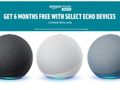 Get 6 Month of Amazon Music Unlimited With Any Echo Dot ($60 Saving)