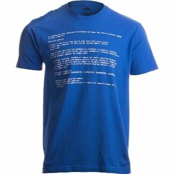 Blue Death Of Screen T-Shirt For Halloween