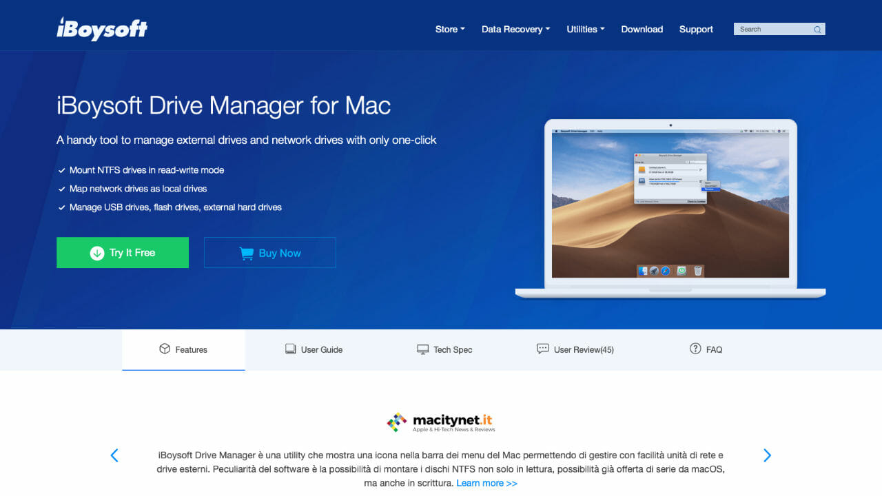 iBoysoft Drive Manager For MacBook