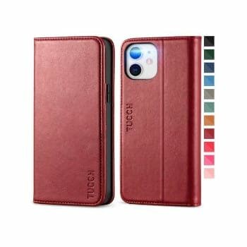 TUCCH Leather Case For iPhone 12